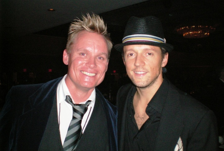 with Jason Mraz at Songwriters Hall Of Fame 18th June 2009