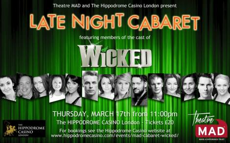 Wicked Late Night Cabaret for Theatre Mad