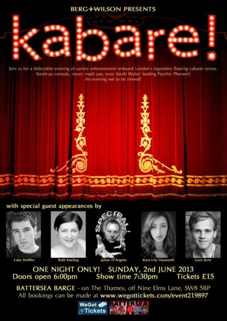 cabaret charity event poster