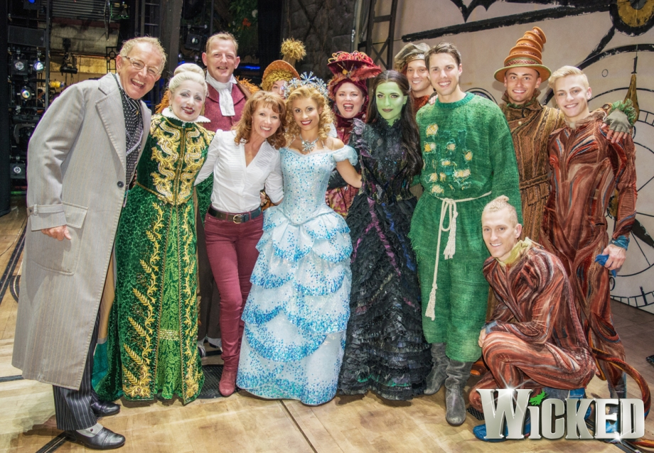 Bonnie Langford with members of the Wicked company, London