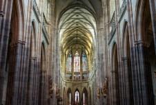 interior, St Vitus Cathedral, Prague Czech Republic