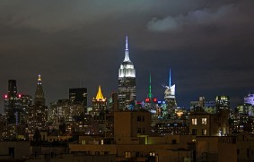 evening skyline featuring the Empire State Building, NYC