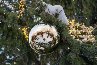 Christmas Tree Bauble, Vanalinn (Old Town), Tallinn Estonia