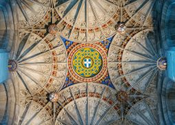 Vaulted ceiling of the belltower, Canterbury Catherdral, Canterbury U.K.