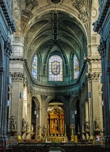 interior, Église Saint-Sulpice, Paris France