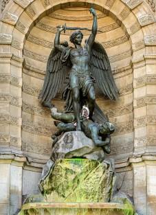 Fontaine Saint-Michel, Paris France