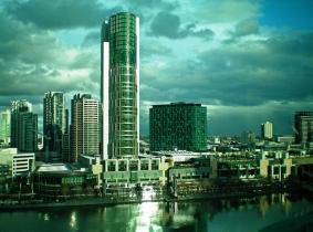 Crown Casino and the Yarra River, Melbourne Australia