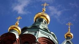 gilded crucifixes, Uspenski Catherdal, Helsinki Finland