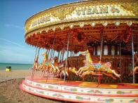 carousel on the beach, Brighton U.K.