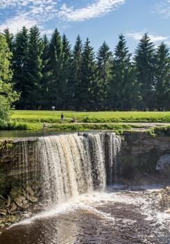 Jägala Juga - waterfall in Estonia