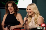 Rachel Tucker and Suzie Mathers appearing at the Wicked UK forum panel on Tuesday Sept 13 for YouTube Space London