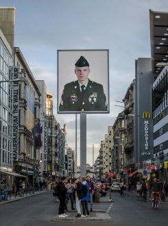 Checkpoint Charlie as a tourist attraction.