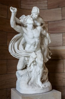 """""""Merkur und Psyche"""" (Eng: Mercury and Psyche) is an 1878 marble sculpture by Reinhold Begas, housed at the entrance to the Alte Nationalgalerie in Berlin, Germany."""