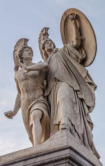 Der junge Held wird von Athena beschützt Athena protects the Young Hero Gustav Blaeser, 1854 Schloßbrücke (Palace Bridge)
