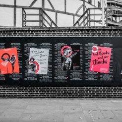 Shakespeare's Globe Program Wall