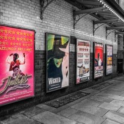 Theatre Posters along St Martin's Court